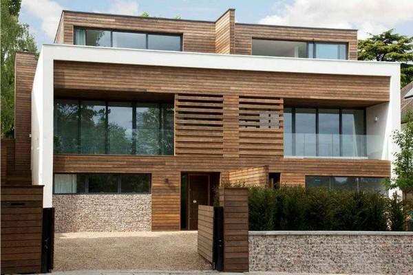 Desain Rumah Minimalis Kayu Modern Alami London