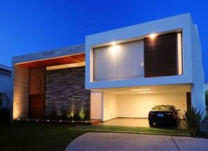 Rumah Modern Minimalis on Rumah Minimalis Modern Dengan Kombinasi Batu Alam Dan Kayu
