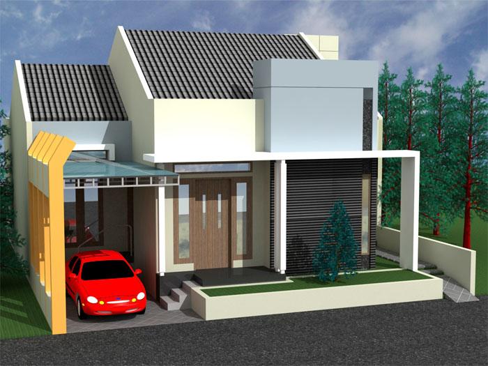 Desain Rumah Minimalis Modern Townhouse Golden Eight
