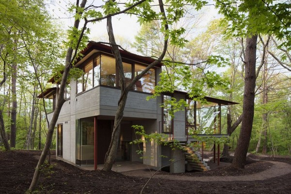 Desain Rumah Minimalis Jepang Alami by Cell Space Architects