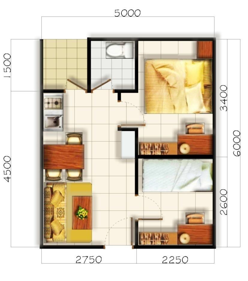Membuat Denah Rumah Minimalis Tipe 36 Kontraktor Renovasi Gambar Desain