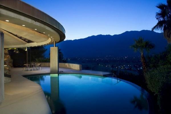 Rumah Minimalis Unik James Bond Desain by John Lautner