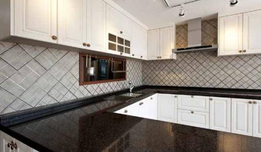 solid surface hitam untuk top table dapur